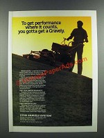 1986 Gravely Mower Ad - Get Performance Where it Counts