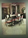 1986 Lane Lido Dining Room Furniture Ad - Euro-Styling