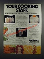 1986 Cuisinart Food Processor Attachments Ad - Disc Set, Whisk, Citrus Juicer
