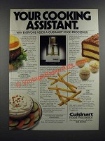 1986 Cuisinart Food Processor Ad - Your Cooking Assistant