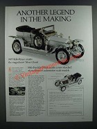 1986 Franklin Mint 1907 Rolls-Royce Silver Ghost Model Ad - Another Legend