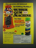 1986 Dow Bathroom Cleaner with Scrubbing Bubbles Ad - Gum Machine