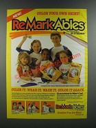 1986 Stedman ReMarkAbles Childrens Wear Ad - Color Your Own Shirt