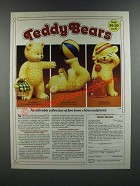1986 The Danbury Mint Ad - Teddy Bears Collection Sculptures