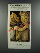 1986 Goebel M.I. Hummel Figurines Ad - Want to Know a Secret?