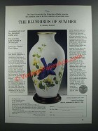1986 The Franklin Mint Ad - The Bluebirds of Summer Vase by Anthony Rudisill