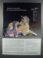 1986 The Franklin Mint Ad - Tenderness Sculpture by Poul Ipsen