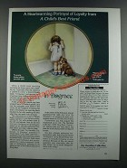 1986 The Hamilton Colletion Ad - In Disgrace, A Child's Best Friend Plate