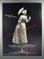 1986 Lladro English Lady Porcelain Ad - Expressions of Refined Elegance