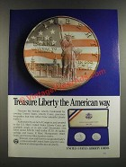 1986 United States Liberty Coins Ad - Treasure Liberty the American Way