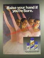 1986 Sure Deodorant Ad - Raise Your Hand If You're Sure