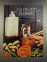 1986 Liquid Ivory Soap Ad - In Your Kitchen What Could Be More Natural