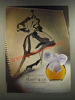 1986 Saks Fifth Avenue Albert Nipon Perfume Ad - Wear it Forever