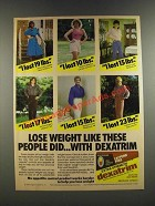 1986 Extra Strength Dexatrim Ad - Lose Weight Like These People