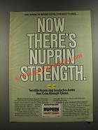 1986 Bristol-Myers Nuprin Medicine Ad - Now There's Nuprin Strength