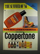 1986 Coppertone Suntan Oil Ad - The Summer of '86