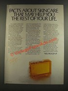 1986 Neutrogena Soap Ad - Facts About Skincare That May Help You