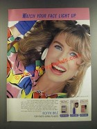 1986 Bonne Bell Hi-Lites, Lash-Lites and Blush-Lites Ad - Face Light Up