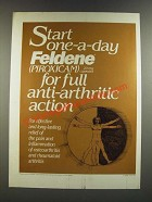 1986 Pfizer Feldene (Piroxicam) Ad - Start for full Anti-Arthritic Action