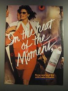1986 Lady's Choice Deodorant Ad - In The Heat of The Moment