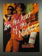 1986 Lady's Choice Deodorant Ad - In The Heat of the Night