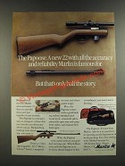 1986 Marlin Papoose Rifle Ad - But That's Only Half the Story