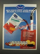 1986 Ocean Spray Cranapple Juice Ad - A Little Makes a Lot