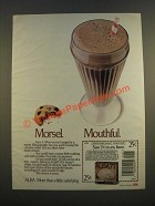1986 Alba 77 Fit'n Frosty Shake Ad - Morsel Mouthful