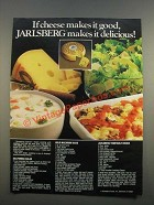 1986 Norseland Foods Jarlsberg Cheese Ad - Makes It Delicious