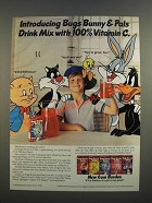1986 Borden Bugs Bunny & Pals Drink Mix Ad