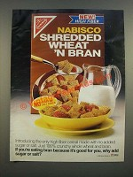 1986 Nabisco Shreded Wheat 'N Bran Ad - No Added Sugar or Salt