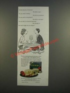 1986 Kraft Philadelphia Brand Cremerie Cheese Ad - Charles Saxon Cartoon