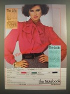 1986 The Notebook Bow Blouse #7517 Ad - The Life