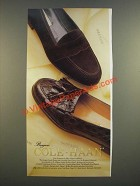 1986 Cole-Haan Bragano Suede Penny and Crocodile Shawl Tassel Shoes Ad