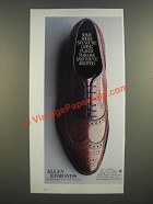 1986 Allen Edmonds Shoes Ad - Some Shoes Say You're Going Places