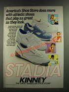 1986 Kinney Stadia Athletic Shoes Ad - Play As Great As They Look