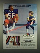 1986 Fruit of The Loom Sox Socks Ad - Tough Enough To Fill Both