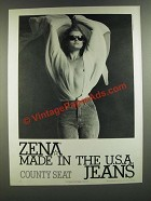 1986 Zena Jeans Ad - Made in The U.S.A. Jeans