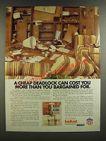1986 Kwikset Maximum Security Deadbolt Ad - Cost More Than You Bargained For