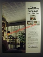 1986 Armstrong Ceiling Tile Ad - It's Easy To Put Beauty Above Everything Else