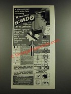 1986 Arrow Xpando T-50XP Staple Gun Attachment Ad - New Concept
