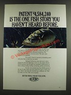 1986 Du Pont Prime Fishing Line Ad - One Fish Story You Haven't Heard