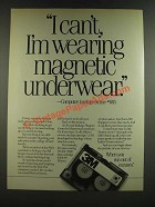1986 3M DC 2000 Data Cartridge Ad - I Can't, I'm Wearing Magnetic Underwear