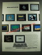 1986 Commodore 128 and 64 Personal Computers Ad - All You Need To Do This
