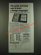 1986 Barnes & Noble Berlitz Language/30 Program Ad - Quick and Easy