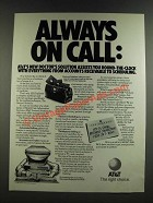 1986 AT&T Doctor's Solution Hardware & Software Package Ad - Always On Call