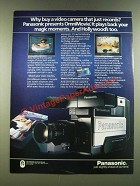 1986 Panasonic ImniMovie Video Camera Ad - Why a Camera That Just Records?