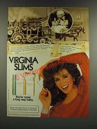 1986 Virginia Slims Cigarettes Ad - Ladies' Auxillary of Fenton Falls Fire