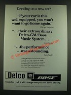1986 Delco-GM Bose Ad - Deciding on a new Car?
