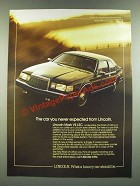 1986 Lincoln Mark VII LSC Ad - The Car You Never Expected from Lincoln